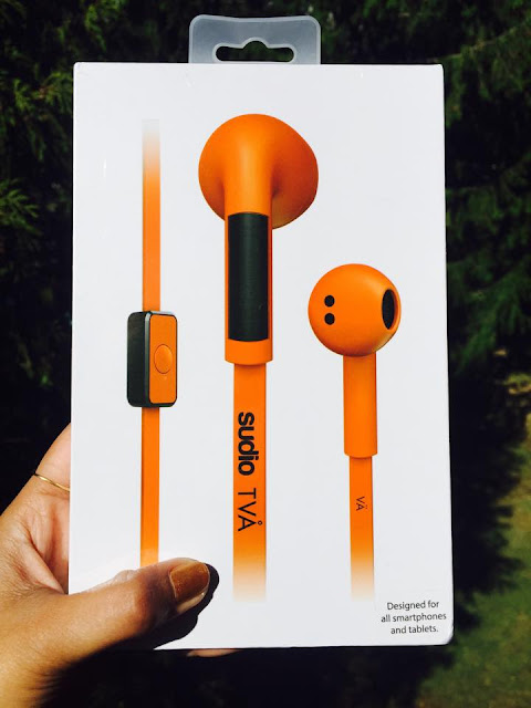 Sudio TVA Headphones review, seattle blogger, product reviews, orange ear phones, colorful ear phones
