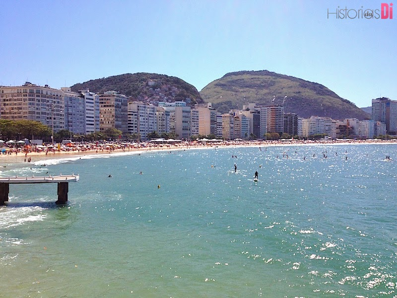 Point mais badalado de prática do SUP em Copacabana visto do forte