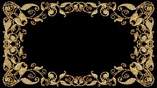 Molduras arabescos dourados 13 png