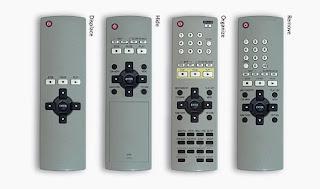 4 remote controls illustrating 4 design strategies