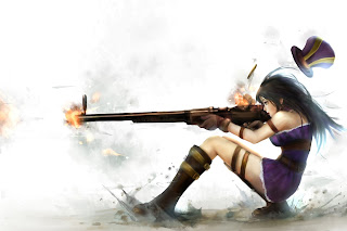 Caitlyn Firing Riffle Girl League of Legends Champion Video Game HD Wallpaper Desktop PC Background 1298