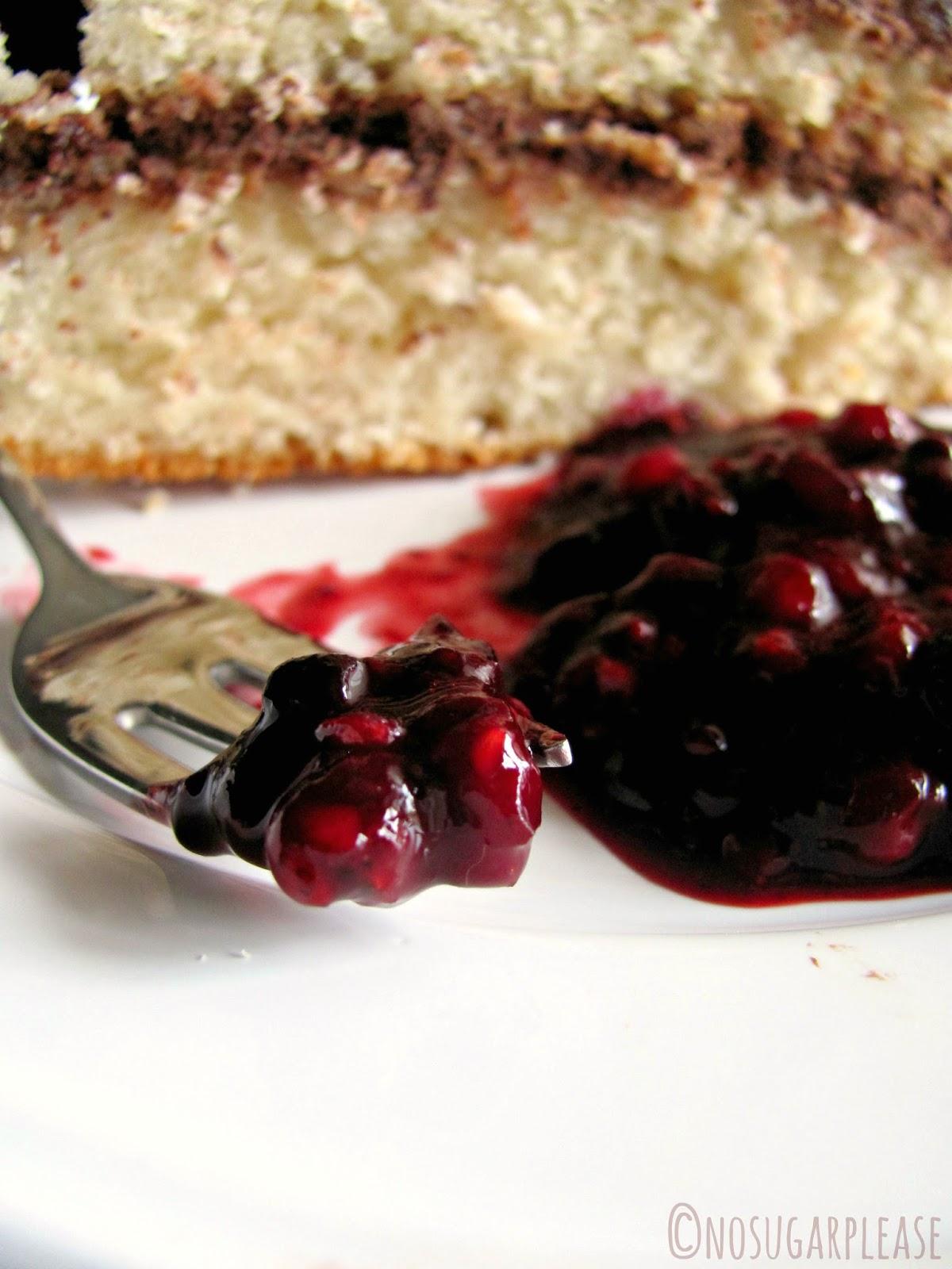 torta senza zucchero vegan