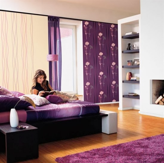 purple bedroom wallpaper designs wall paper designs for bedrooms. Interior Design Ideas. Home Design Ideas