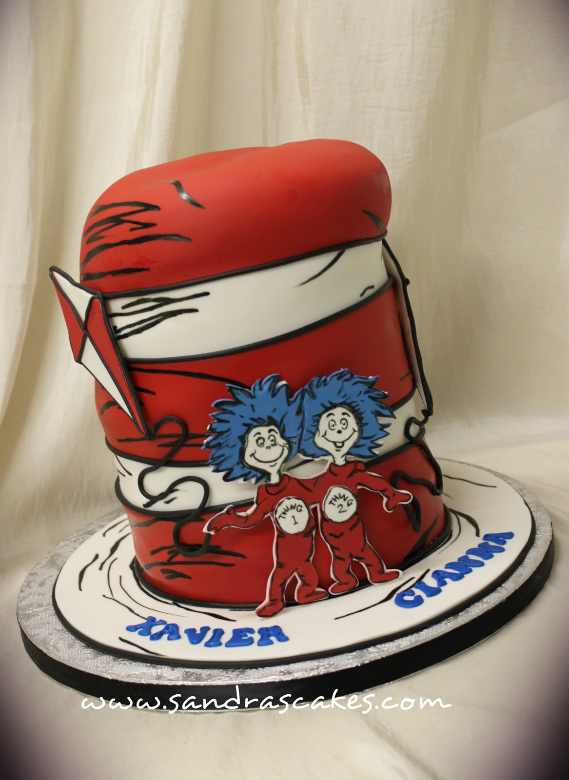 CAT IN THE HAT BIRTHDAY CAKE