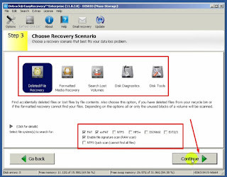 4 - tampilan pilihan skenario recovery data pada ontrack easy recovery data Enterprise Full Versi