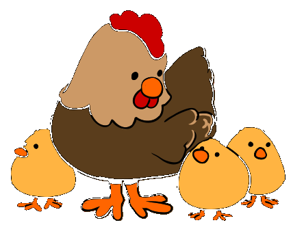 Imagenes a color gallina - Dibujos en colores para imprimir ...