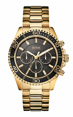Traditional timepiece from Guess watches in gold and black