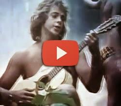 """Propaganda das duchas Corona com o mote """"banho de água quente"""" em 1976."""