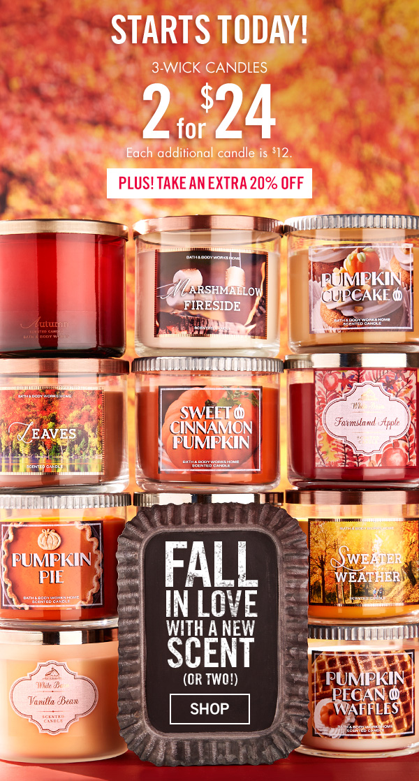 Life Inside The Page Bath Body Works Today 39 S Email October 2 2015