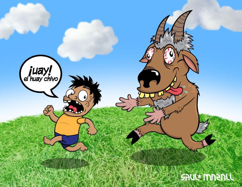 ilustracion realizada para el viernes de ilustracion el huay chivo o