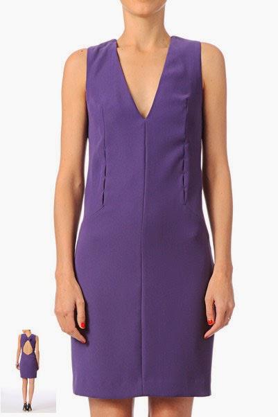 Robe courte de soirée Cacharel violette