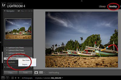 presets lightroom, cara instal presets lightroom