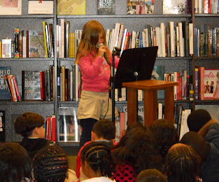 young poet reading from new anthology from Lisa B (Lisa Bernstein) blog