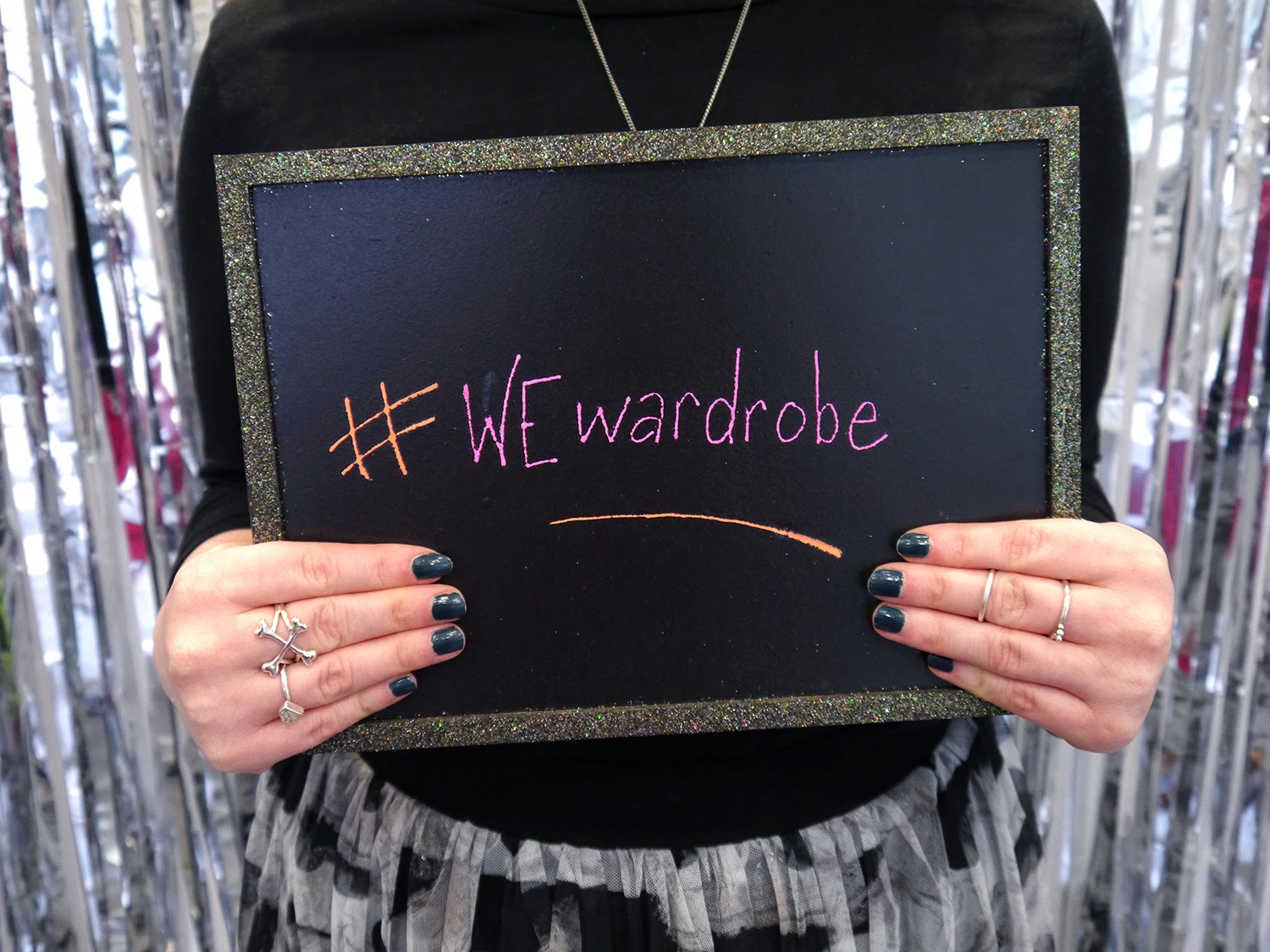 What Helen Wore, Outfit, Scottish Blogger, Wear Eponymous, The Wardrobe, Pop Up Shop, #WEwardrobe, Reg Head, ginger, chalkboard, photobooth, Bloody Mary Metal Crossbones Ring