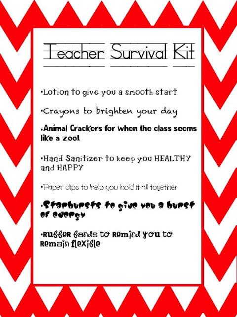 Comprehensive image pertaining to teacher survival kit printable