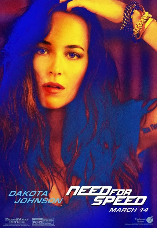 "Dakota Johnson en Nuevo poster Individual de ""Need For Speed"""