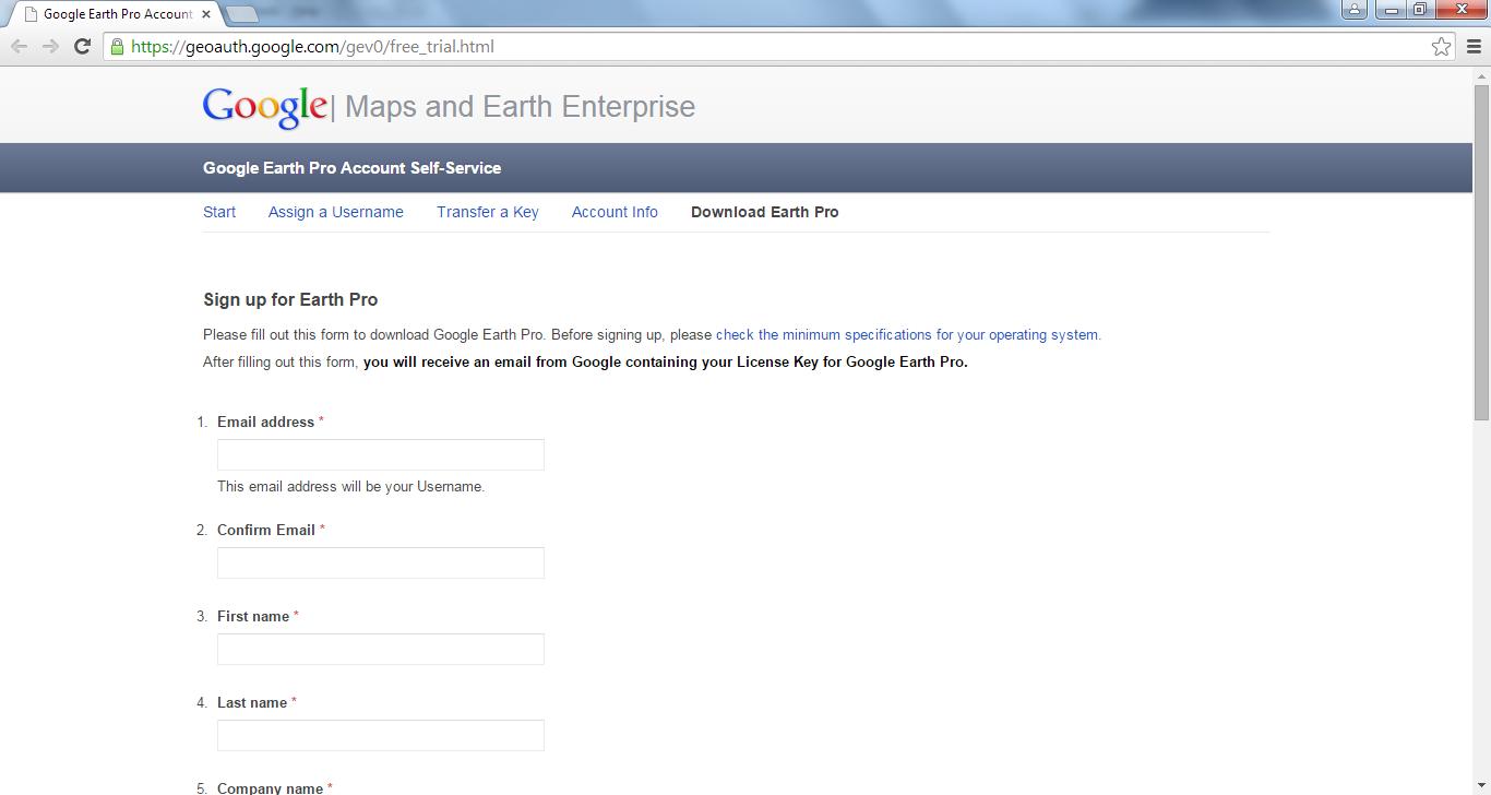 Cara Mendapatkan Serial Key Google Earth Pro Secara Gratis,free