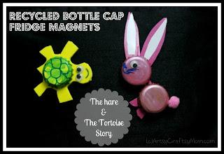 recycled bottle cap animal fridge magnet