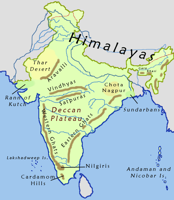 Physical geography of india facts information facts n info gumiabroncs Images