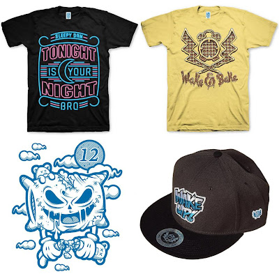 Sleepy Dan Series 3 - Tonight Is Your Night T-Shirt, Wake & Bake T-Shirt, Pillow Monster Print & Wake Up Flatbill Snapback Hat