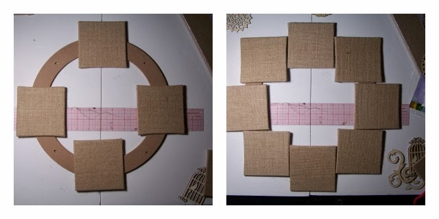 Burlap Canvas and Wood Wreath by 504 Main #mpinterestparty
