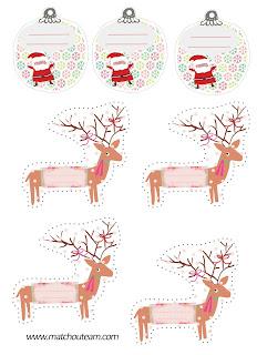 Noël étiquettes cadeaux