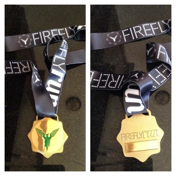 Firefly run 5k medal