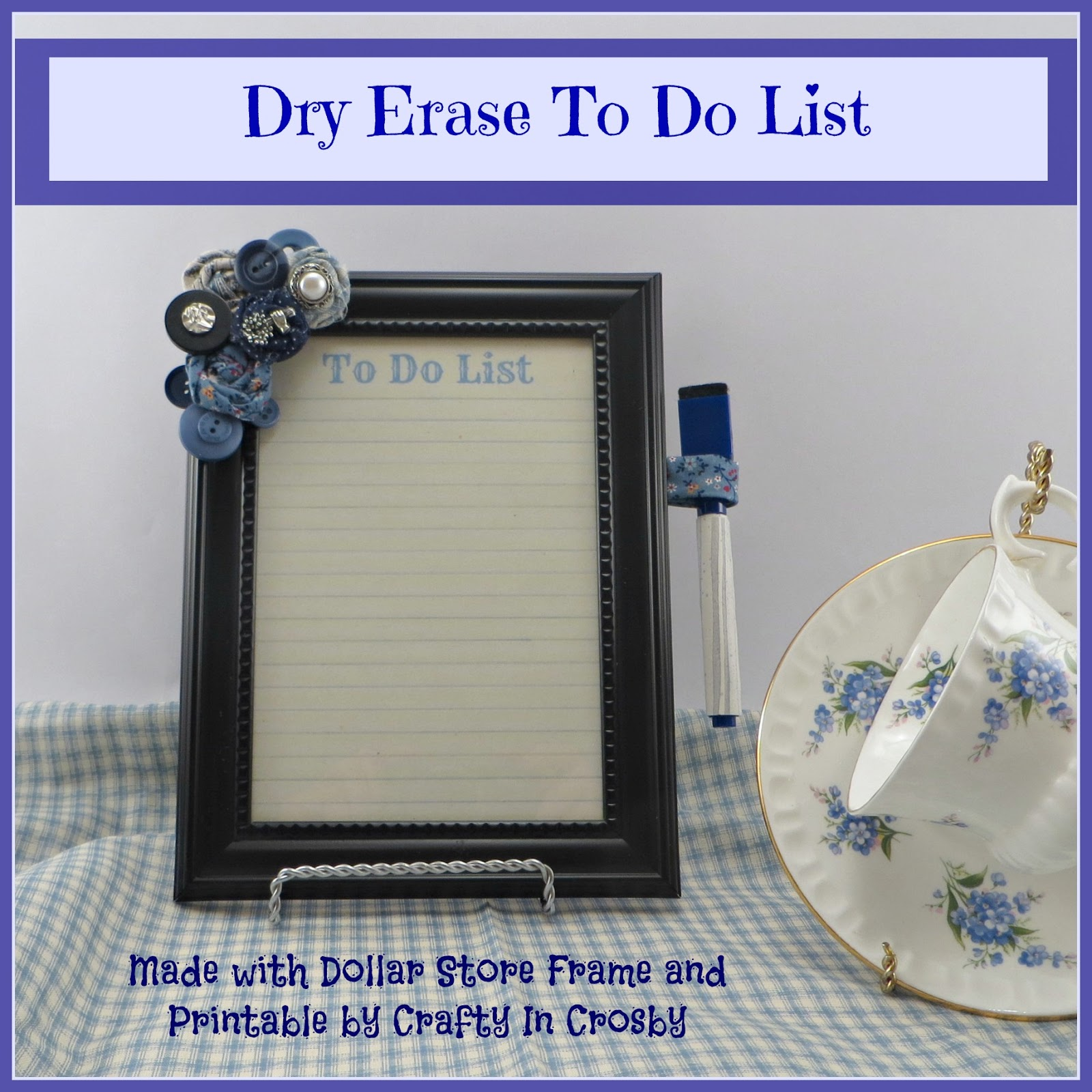 Crafty in Crosby: Dry Erase Boards with $$ Store Frames