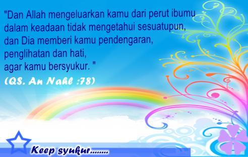 Ayat Tentang Syukur Nikmat Allah