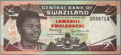 Swaziland 2 Emalageni 1987 P# 13