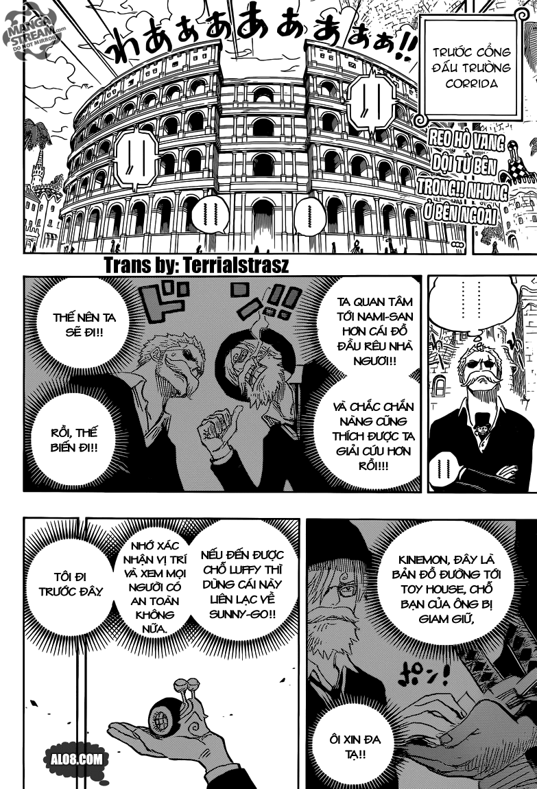 One Piece Chapter 723: Thay đổi trong kế hoạch 002