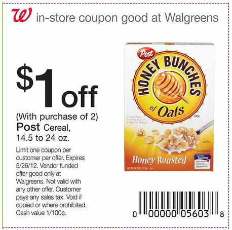 photograph regarding Post Cereal Coupons Printable named Cereal Coupon codes