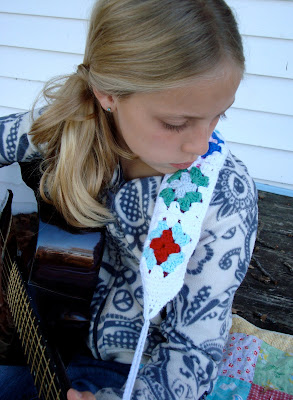free crochet pattern granny square guitar strap