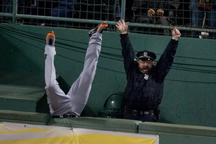 Boston cop at red sox game