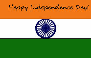 happy indian independence day flag