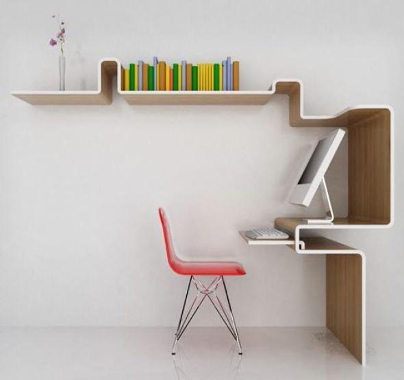 Modernos escritorios minimalistas para espacios reducidos for Escritorios para espacios pequenos