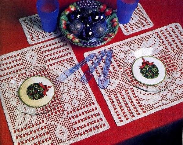 melissa melina crochet sets de table et dessous de verre assortis au crochet accompagn s de. Black Bedroom Furniture Sets. Home Design Ideas