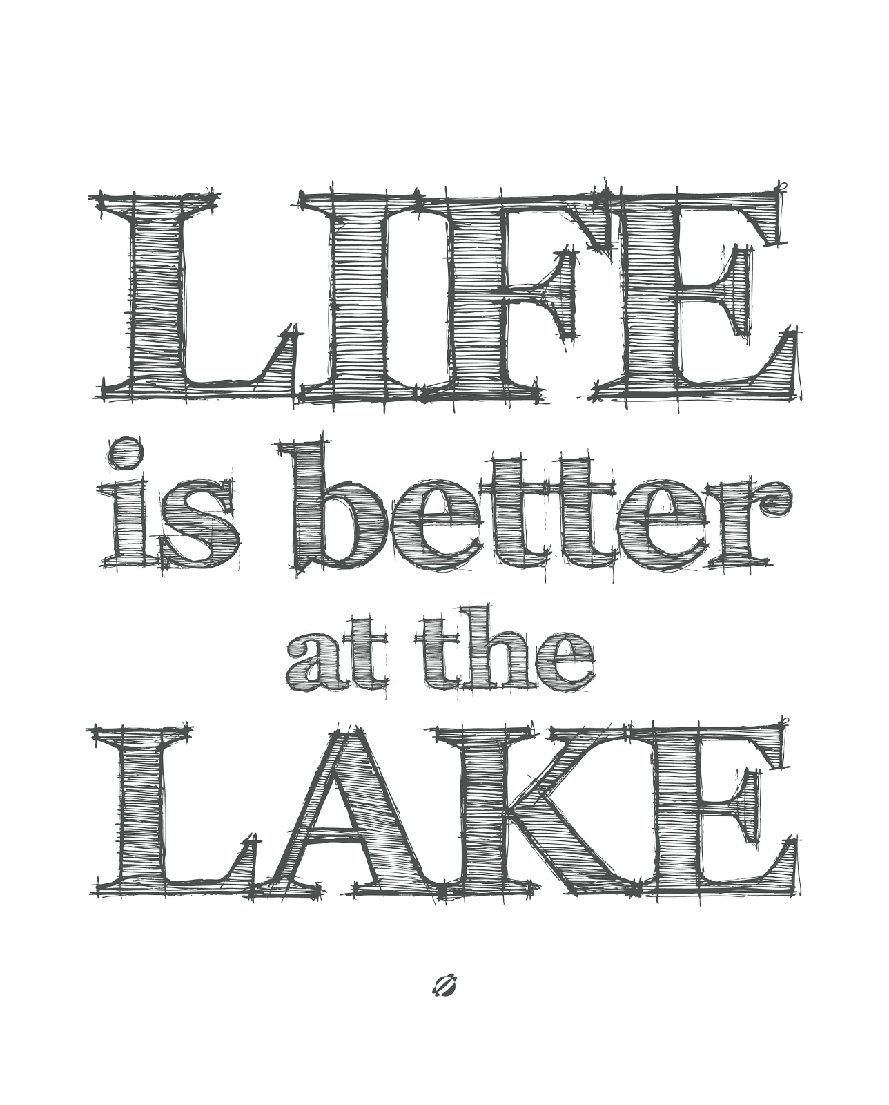 LostBumblebee ©2014 Life is Better at the LAKE- Free Printable - personal use