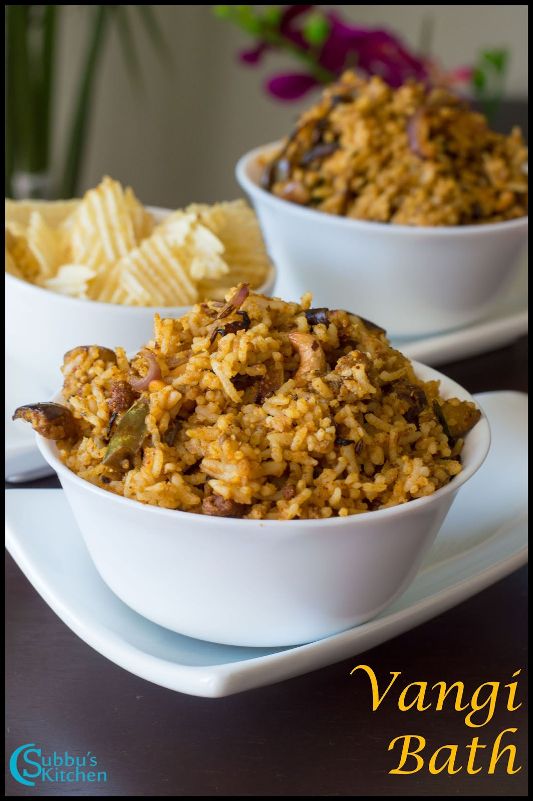 Brinjal Rice(Vaangi Baath) - Subbus Kitchen
