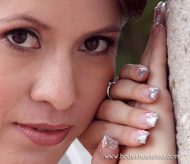 Decoración de uñas para una boda