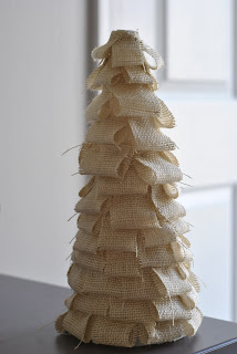 DIY burlap tree christmas