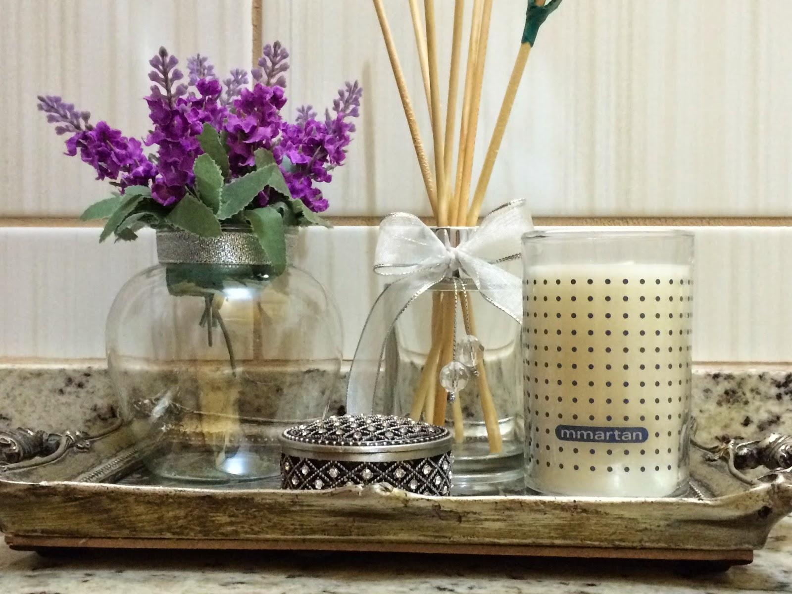 decoracao bandeja lavabo : decoracao bandeja lavabo:Eu amo velas na decoração e quando elas são aromáticas melhor