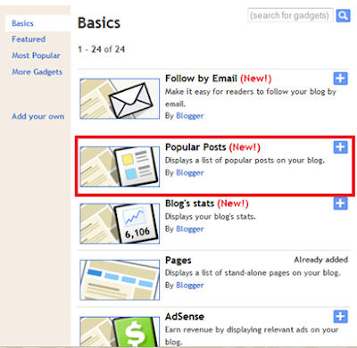 Modifikasi Popular Posts Widget Blogger #1