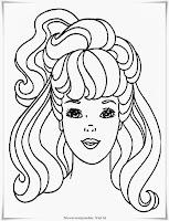 Mewarnai Gambar Rambut Panjang Putri Raja