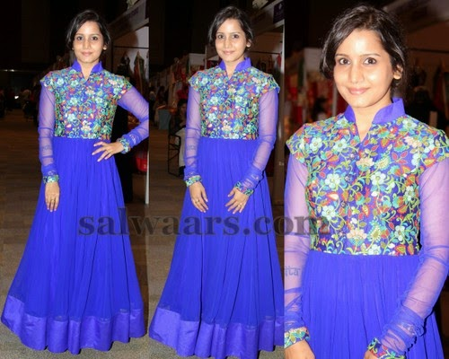 Floor Length Chic Salwar in Blue