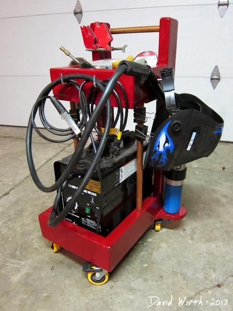 mig welder cart, welder cart plans, hobart welder, lincoln welder, portable, miller, utility