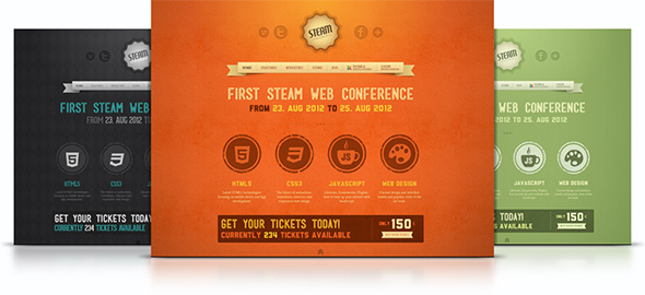 Steam Joomla Template Free Download.