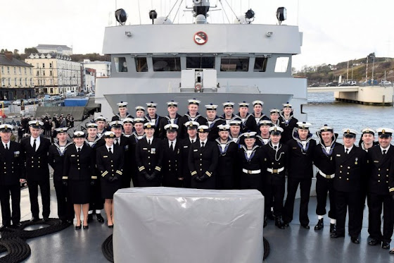 Naval staff aboard the Aoife