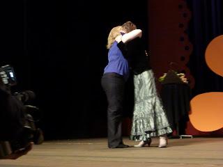 Liz & Shelly Hugging
