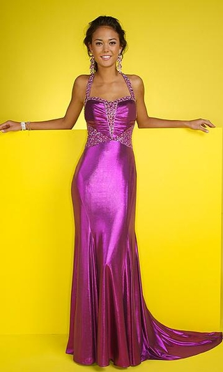 hairstyles_for_halter_dresses+metallic-gown-halter-evening-dress-sexy ...